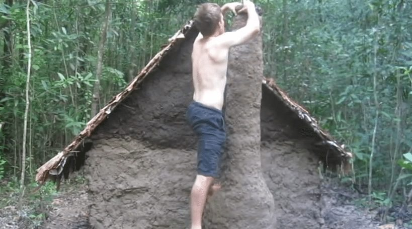 earthen hut