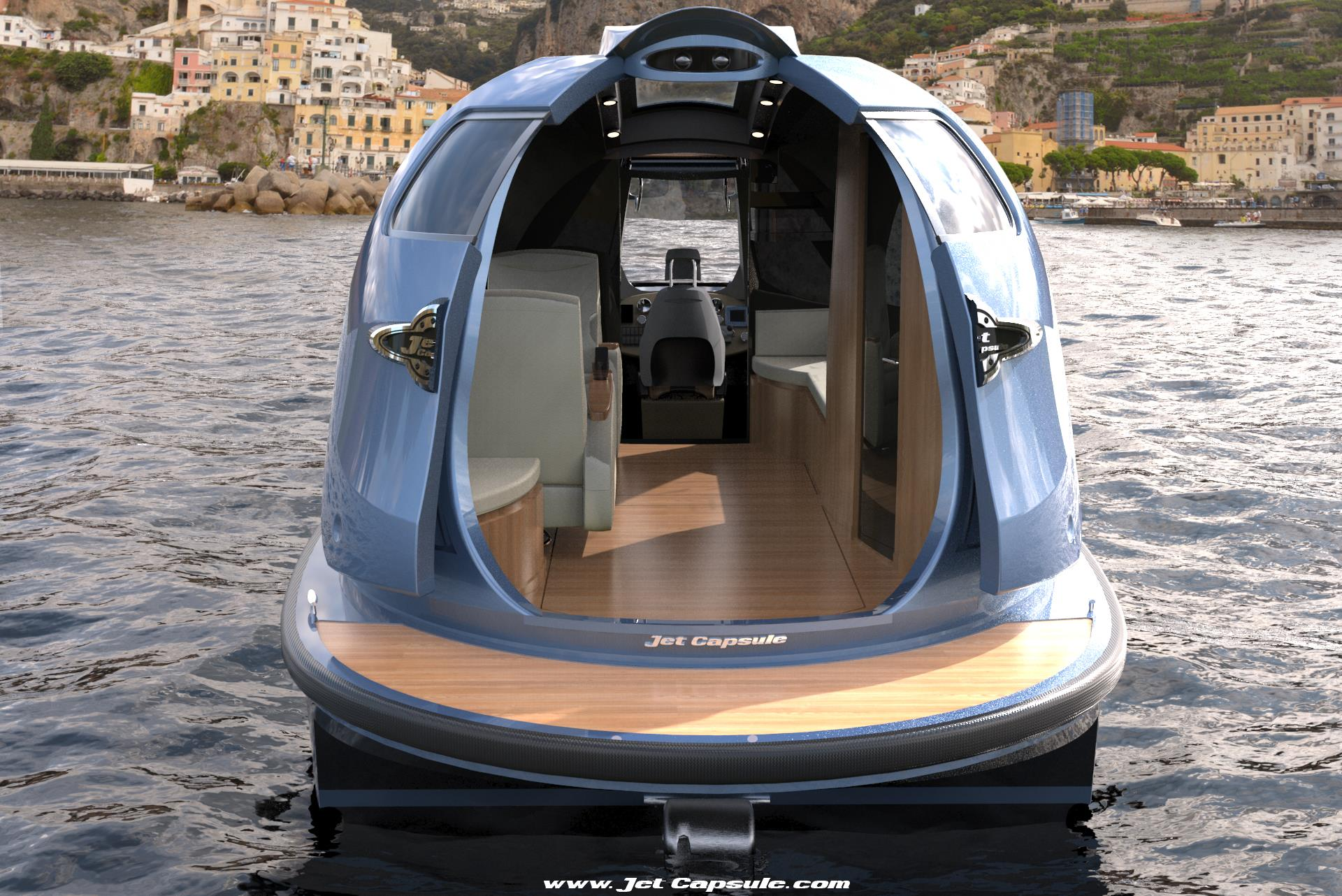 Minimalist house on wheels - Off Grid Floating Home Travel The World In A Jet Capsule