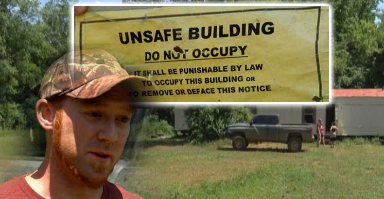 off grid home condemned