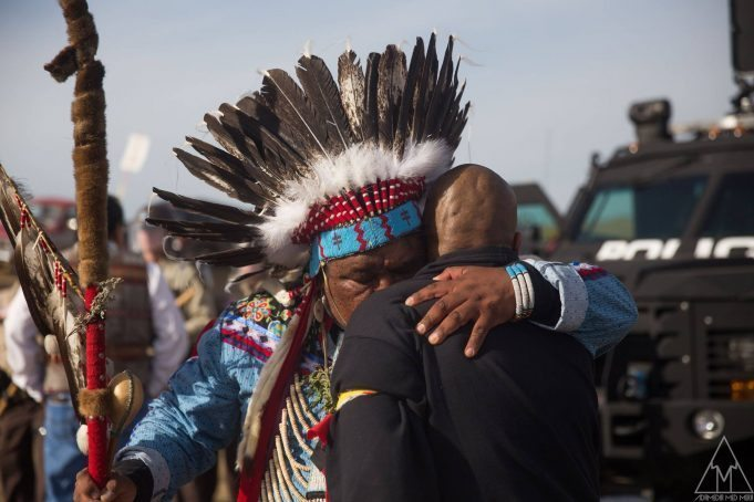 Photo by Adam Alexander Johansson standing rock