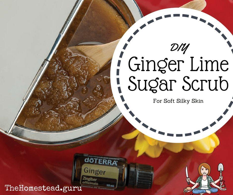 DIY ginger lime sugar scrub