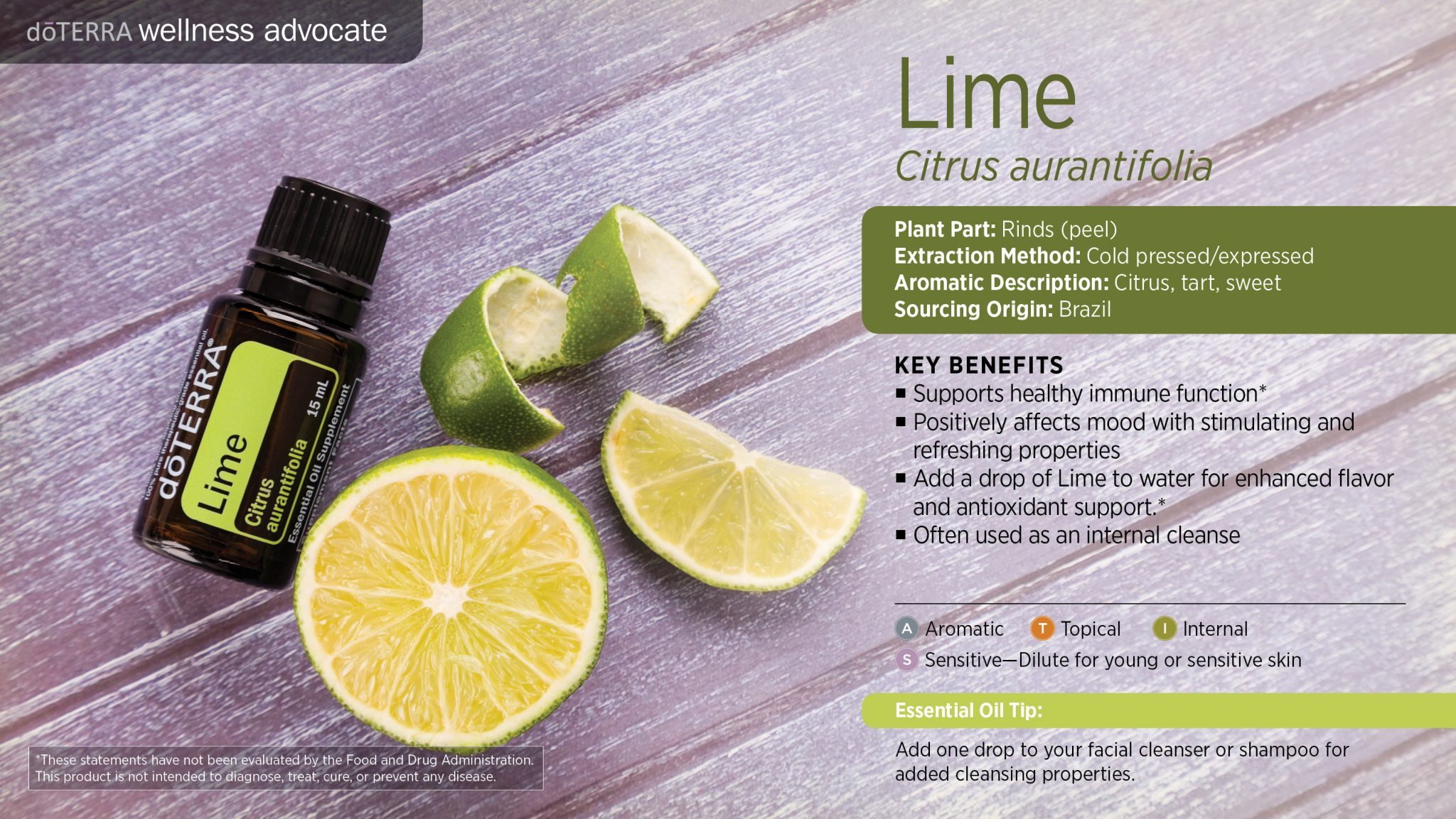 doterra lime oil