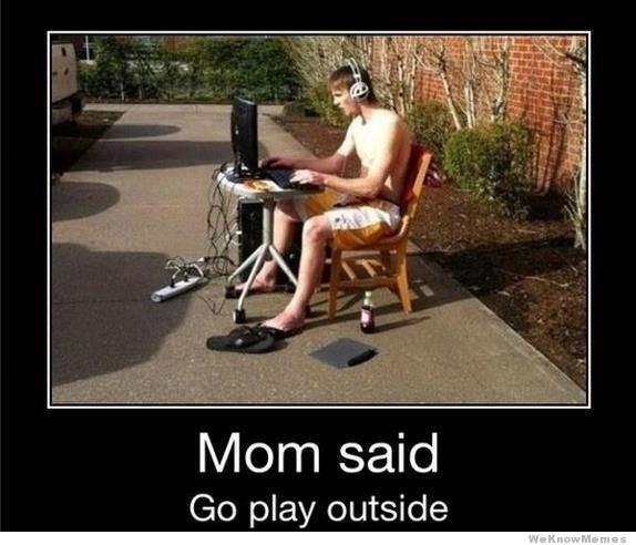 go outside garden