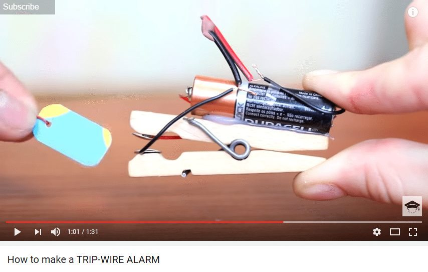 make a simple tripwire alarm