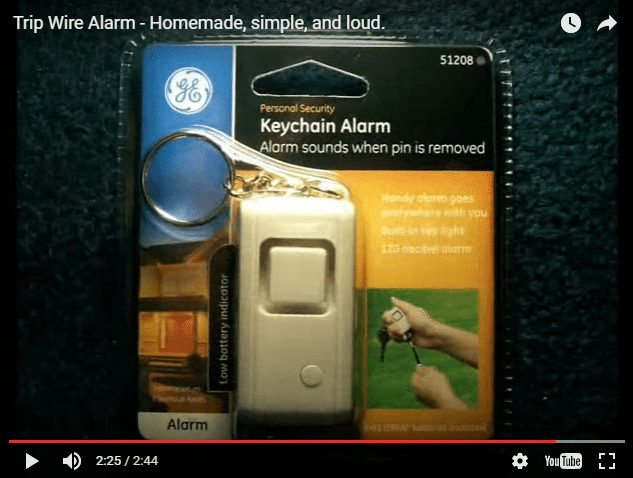 make a simple tripwire alarm