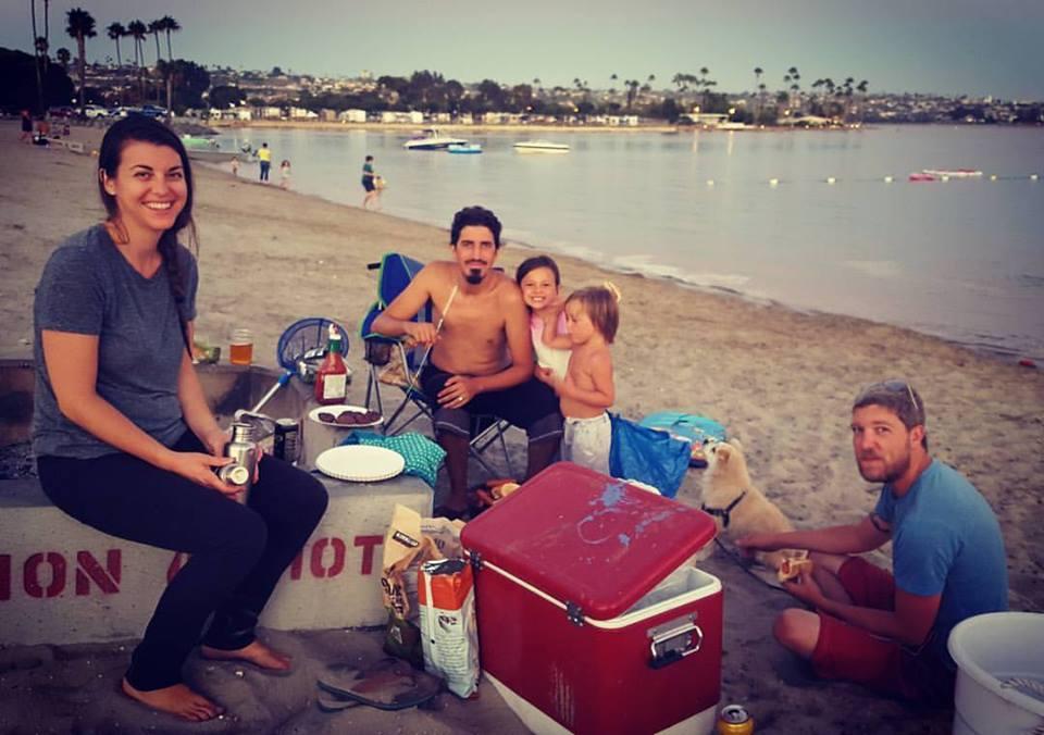 On the Beach in San Diego with Dear Friends. Follow me on Instagram.
