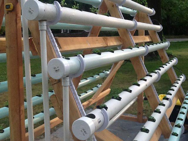 DIY hydroponic A-frame