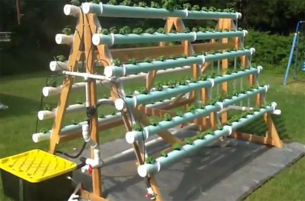 vertical hydroponics system
