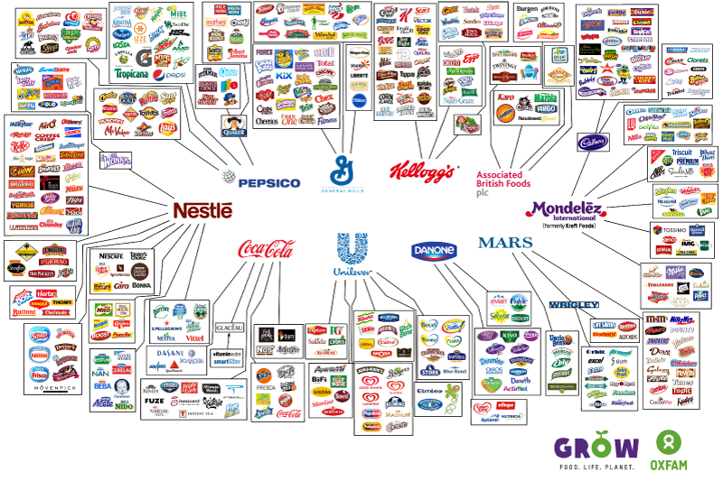 10 companies own all food