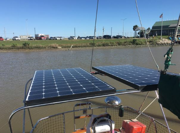 Solar Panels Sailboat