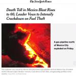 Pipeline explosion in Mexico